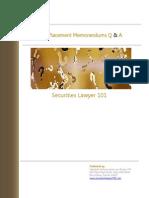 Private Placement Memorandums Q A1