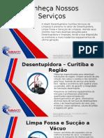 Apresentação empresa Desentupidora Abaiti Curitiba
