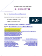 Richard D. Deboest II, Esq. Fraud