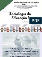 Sociologia Da Educação 2013