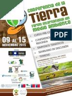 Convocatoria Conferencia de La Tierra 2015_ Julio 2015