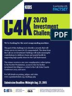 C4K 20 20 Investment Challenge
