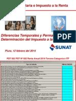 05 02 2015 Diferencias Temporales y Permanentes en La Dj Anual 2014