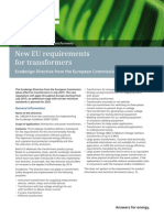 New Eu Requirements for Transformers Ecodesign Directive
