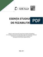 Esenta Studiului de Fezabilitate Brosura ADR Nord