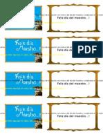 Tarjeta Dia Del Maestro