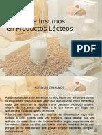 aditivos en insumosen lacteos
