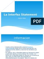 La Interfaz Statement