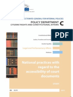 2013-00-00 National Practices With Regard to the Accessibility of Court Documents_European Parliament