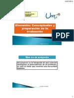 Elementos Conceptuales y Preparacion de La Evaluacion
