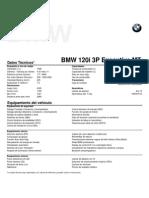 Ficha técnica All New BMW 120i 3P Executive MT