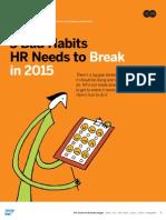 5 Bad Habits HR Needs to Break in 2015 SAP