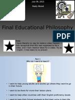 final educational philosophy