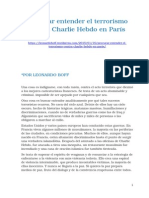 Leonardo Boff - Procurar Entender El Terrorismo