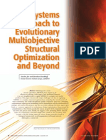 A Systems Approach to Evolutionary Multiobjetive Structural Optimization and Beyond