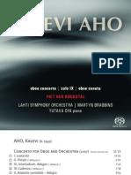 Aho - Oboe Concerto; Oboe Sonata