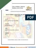 La Enseñanza Del Español en El Nivel Básico