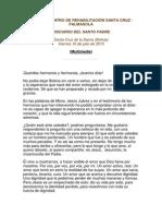 Discurso del papa en el penal de Palmasola