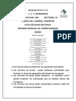 Informe de Campechanidad ENERO 2014