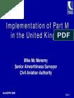 Part M Implementation Presentation
