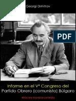 Georgi Dimitrov; Informe en el Vº Congreso del Partido Obrero (comunista) Búlgaro, 1948.pdf