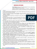 Current Affairs Pocket PDF – June 2015 by AffairsCloud