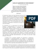 """(5) """"A FORÇA DA CALMA, NO XAMANISMO DE JORGE MENEZES"""""""