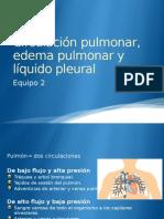 Circulación Pulmonar, Edema Pulmonar y Líquido Pleural