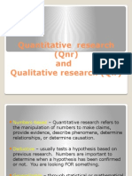 Quantitative Research and Qualitative Research