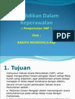 Pendidikan Dalam Keperawatan (Penyusunan SAP)