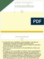 CLASE 13 AGENTES ETIOLOGICOS DE DERMATOFITOSIS.ppt