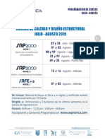 Programacion Julio - Agosto 2015 SEPROINCA, F.P - Grupo Caruana