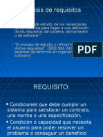 Especificación de Requisitos (Analista Funcional)