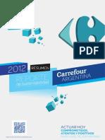 Reporte de Sustentabilidad de Carrefour 2012