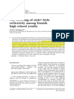 The meaning of style? Style ref lexivity among Danish high school youths