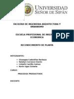 Informe de maquinaria de planta industrial