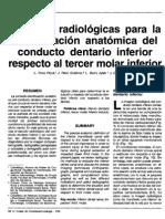 Identificacion Dentario Inferior en Relacc Al Apice de Los Terceros Molares