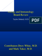 2010 Allergy and Immunology Board Review