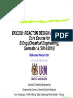 Reactor Design and Analysis (MHU)