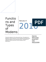 Functions and Types of Modems
