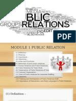 Module 1 Public Relation