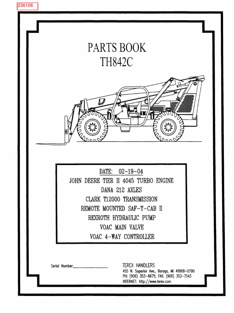 Heavy Equipment Parts & Accessories Terex handlers TH528C