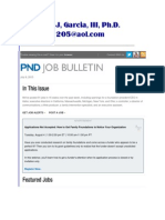 Margarito J, Garcia, III, Ph.D.  -  PND Job Bulletin (July 9 2015).pdf