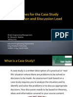 Guidelines for the Case Study Presentation and Discussion Lead