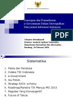 Penerapan dan Pemanfaatan e-Government Dalam Mewujudkan Masyarakat Informasi Indonesia