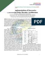 FPGA Implementation of Successive Cancellation Polar Decoder Architecture