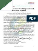 Emission and Economic Load Dispatch through Black Hole Algorithm