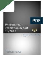 Evaluation Report - 2015 Q1