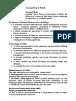 Human Resource Accounting & Auditing