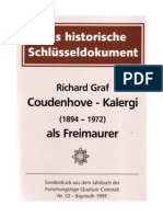 Coudenhove Kalergi - Als Freimaurer - English Translation(Not Perfect) - Cudenhove-Kalergi, Richard